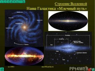 (c) 2001 mez@karelia.ru * 1 2 3 4 5 6 7 8 Строение Вселенной Наша Галактика «Мле