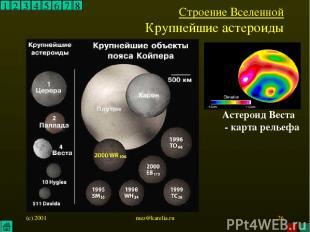 (c) 2001 mez@karelia.ru * 1 2 3 4 5 6 7 8 Строение Вселенной Крупнейшие астероид