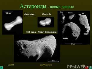 (c) 2001 mez@karelia.ru * Астероиды - новые данные Kleopatra 433 Eros - NEAR Sho