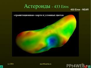 (c) 2001 mez@karelia.ru * Астероиды - 433 Eros 433 Eros - NEAR «гравитационная»