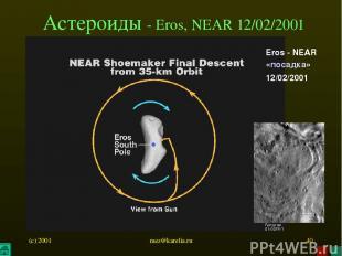(c) 2001 mez@karelia.ru * Астероиды - Eros, NEAR 12/02/2001 Eros - NEAR «посадка