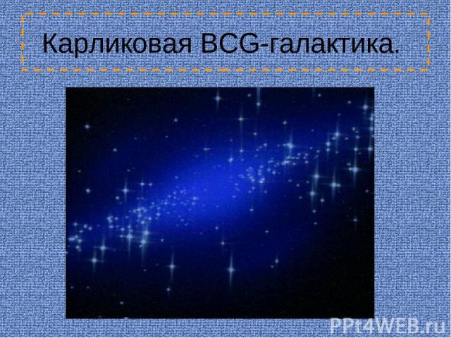 Карликовая BCG-галактика.