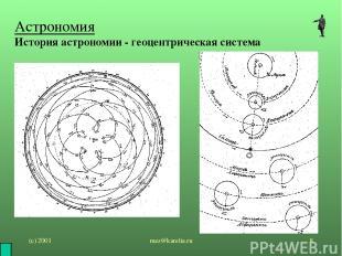 (с) 2001 mez@karelia.ru * Астрономия История астрономии - геоцентрическая систем