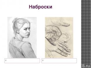 Наброски Набросок девушки Набросок кисти руки