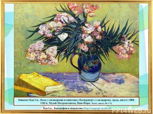 Винсент Ван Гог. Ваза с олеандрами и книгами.( Натюрморт с олеандром). Арль, авг