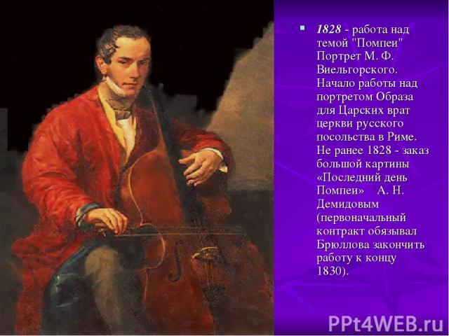 1828 - работа над темой