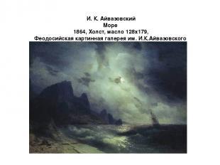 И. К. Айвазовский Море 1864, Холст, маслo 128x179, Феодосийская картинная галере