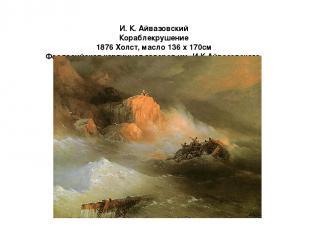 И. К. Айвазовский Кораблекрушение 1876 Холст, масло 136 x 170см Феодосийская кар