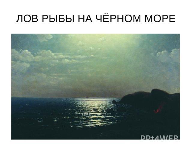 ЛОВ РЫБЫ НА ЧЁРНОМ МОРЕ