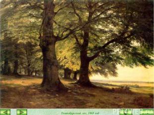 Тевтобургский лес, 1865 год закончить
