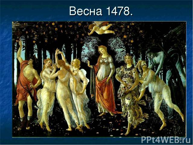 * Весна 1478.