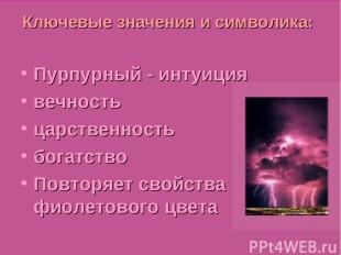 Julia Tishinskaja Ключевые значения и символика: Пурпурный - интуиция вечность ц