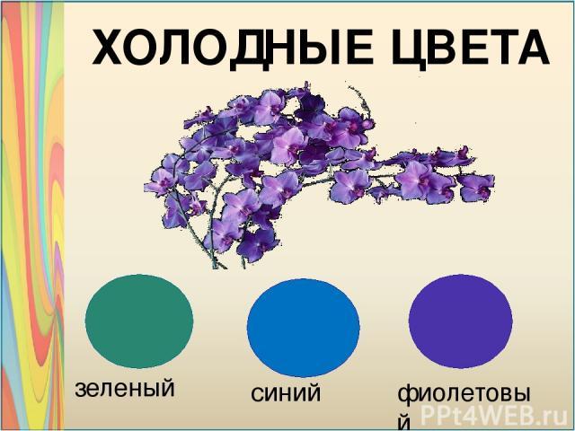 зеленый синий фиолетовый ХОЛОДНЫЕ ЦВЕТА
