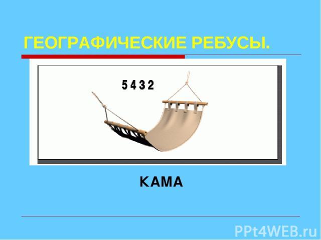ГЕОГРАФИЧЕСКИЕ РЕБУСЫ. КАМА