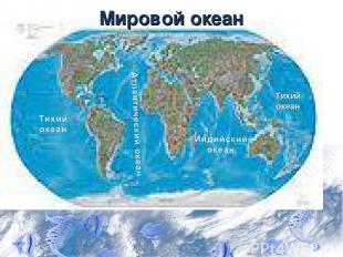 Мировой океан Тихий океан