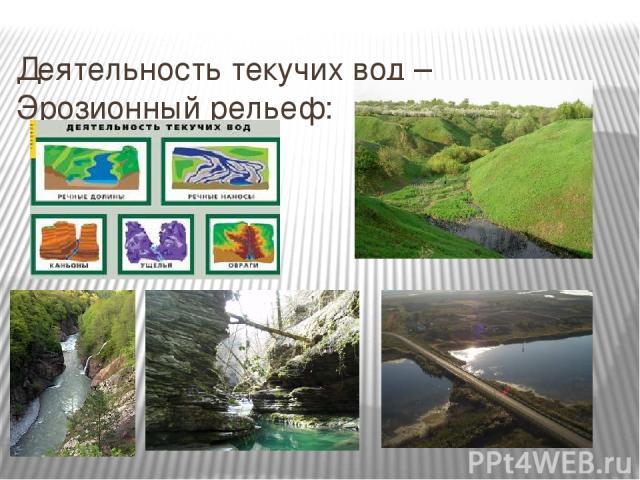 Деятельность текучих вод – Эрозионный рельеф: