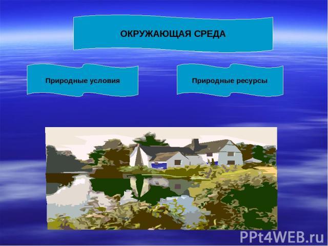ОКРУЖАЮЩАЯ СРЕДА Природные условия Природные ресурсы
