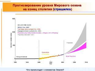 Прогнозирование уровня Мирового океана на конец столетия (страшилка) Что происхо