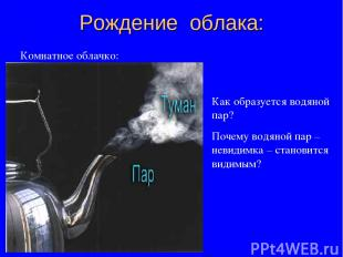 Рождение облака: Комнатное облачко: Как образуется водяной пар? Почему водяной п