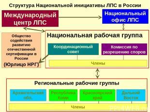 Структура Национальной инициативы ЛПС в России Международный центр ЛПС Националь