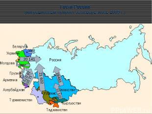 Гости России (миграционный прирост за январь-июнь 2009 г.) 18483 21 602 20 141 1