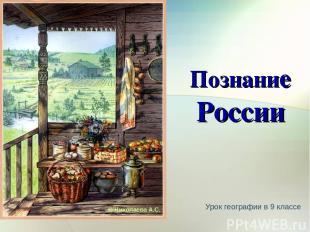 Урок географии в 9 классе Познание России © Николаева А.С.