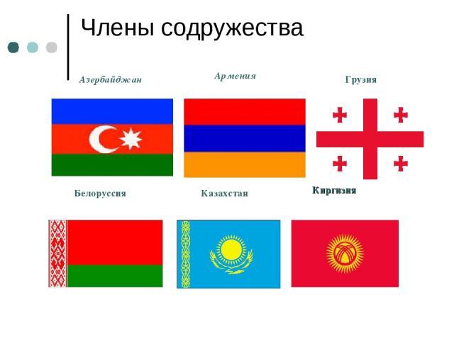 Члены содружества Азербайджан Армения Грузия Белоруссия Казахстан Киргизия