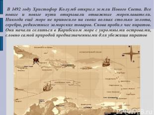 В 1492 году Христофор Колумб открыл земли Нового Света. Все новые и новые пути о