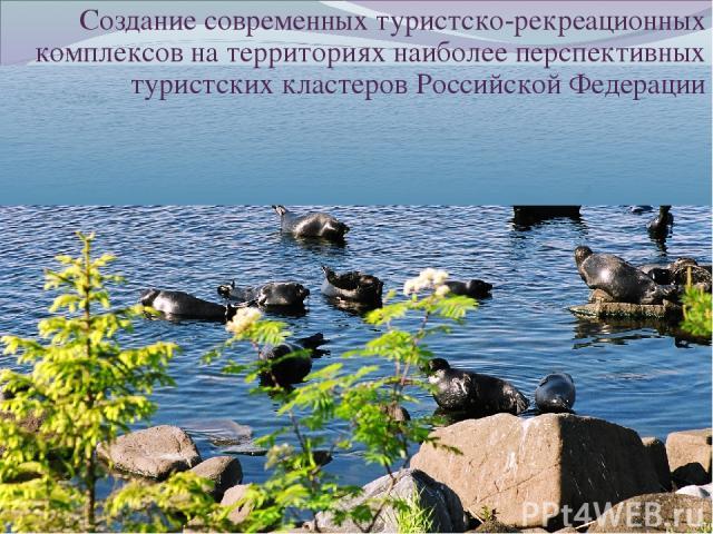 Создание современных туристско-рекреационных комплексов на территориях наиболее перспективных туристских кластеров Российской Федерации