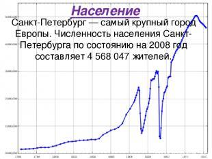 Население Санкт-Петербург — самый крупный город Европы. Численность населения Са