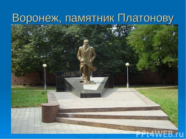 Воронеж, памятник Платонову