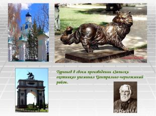 Тургенев в своем произведении «Записки охотника» упоминал Центрально-черноземный