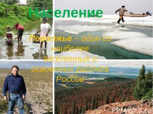Население Поволжье – один из наиболее заселенных и освоенных районов России