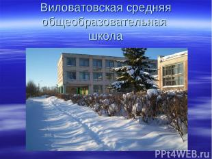 Виловатовская средняя общеобразовательная школа