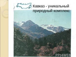 Кавказ - уникальный природный комплекс