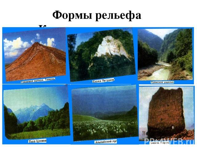 Формы рельефа Краснодарского края