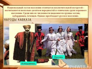 Дагестанский мальчик с вязанкой дров. Адыгейская девушка. Кубанские казачки. Даг