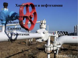 Химическая и нефтехимия Благовещенск Мелеуз Салават Стерлитамак Уфа