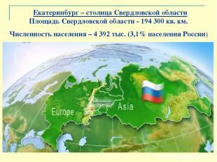 Екатеринбург – столица Свердловской области Площадь Свердловской области - 1943
