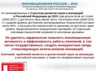 ИННОВАЦИОННАЯ РОССИЯ – 2020 (Стратегия инновационного развития Российской Федера
