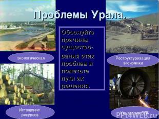 Проблемы Урала. экологическая Истощение ресурсов Конверсия ВПК Реструктуризация