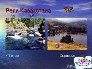 Реки Казахстана Иртыш Сырдарья
