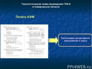 Технологическая схема проведения ГИА-9 в Кемеровской области Печать КИМ Типограф
