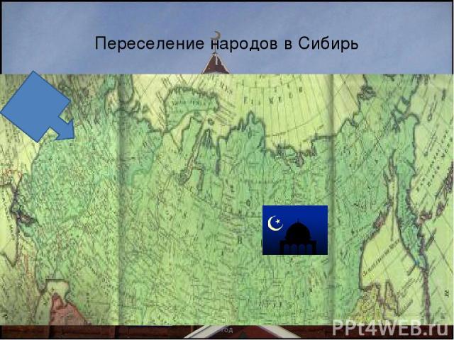 Переселение народов в Сибирь Хабибулина Рима Хафисовна, 2010 год Хабибулина Рима Хафисовна, 2010 год