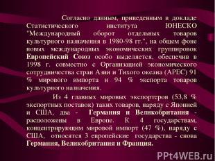"""Согласно данным, приведенным в докладе Статистического института ЮНЕСКО """"Междуна"""