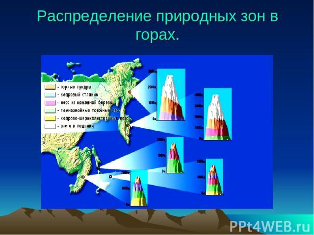 Распределение природных зон в горах.