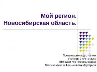 Мой регион. Новосибирская область. Презентацию подготовили Ученицы 9 «А» класса