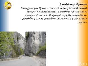 Заповедники Румынии На территории Румынии имеется целый ряд заповедников, которы