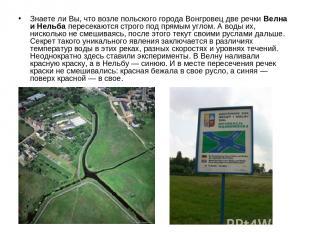 Знаете ли Вы, что возле польского города Вонгровец две речки Велна и Нельба пере
