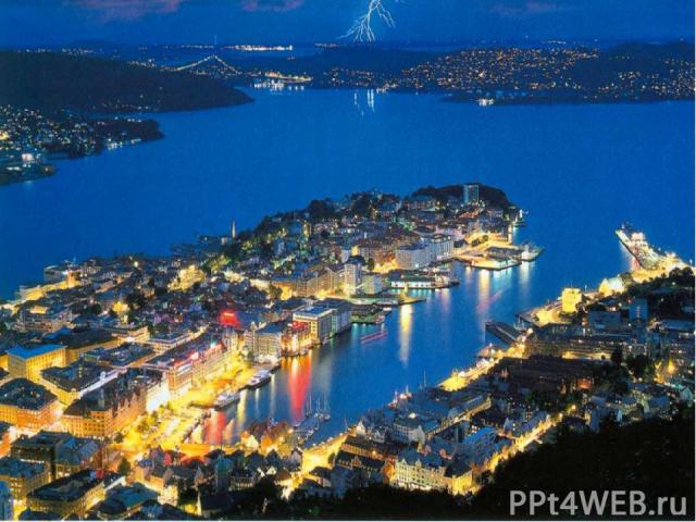 Осло – самый крупный город Норвегии, где проживает 600 тысяч человек.
